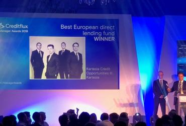 "Kartesia wins Creditflux Award for ""Best European direct lending fund 2018"""